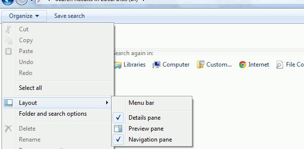 show menu bar