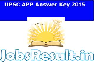 UPSC APP Answer Key 2015