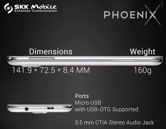 SKK Mobile Phoenix X1, SKK Phoenix X1, SKK Octa Core