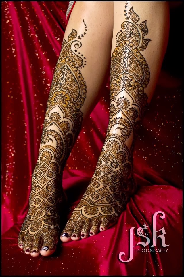Feet and Legs Mehndi for Wedding
