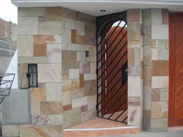 Fachadas de piedra fachadas de piedra laja for Casas modernas revestidas en piedra