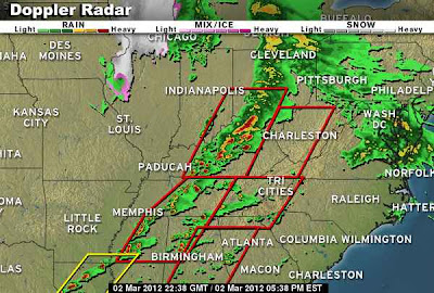 >UNUSUALLY HIGH RISK OF TORNADOES TODAY ACROSS TENNESSEE & OHIO VALLEYS