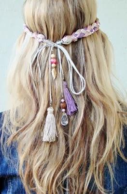 Headband para cabelo com tassel