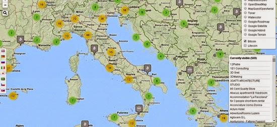 punti dove usare denaro virtuale in italia