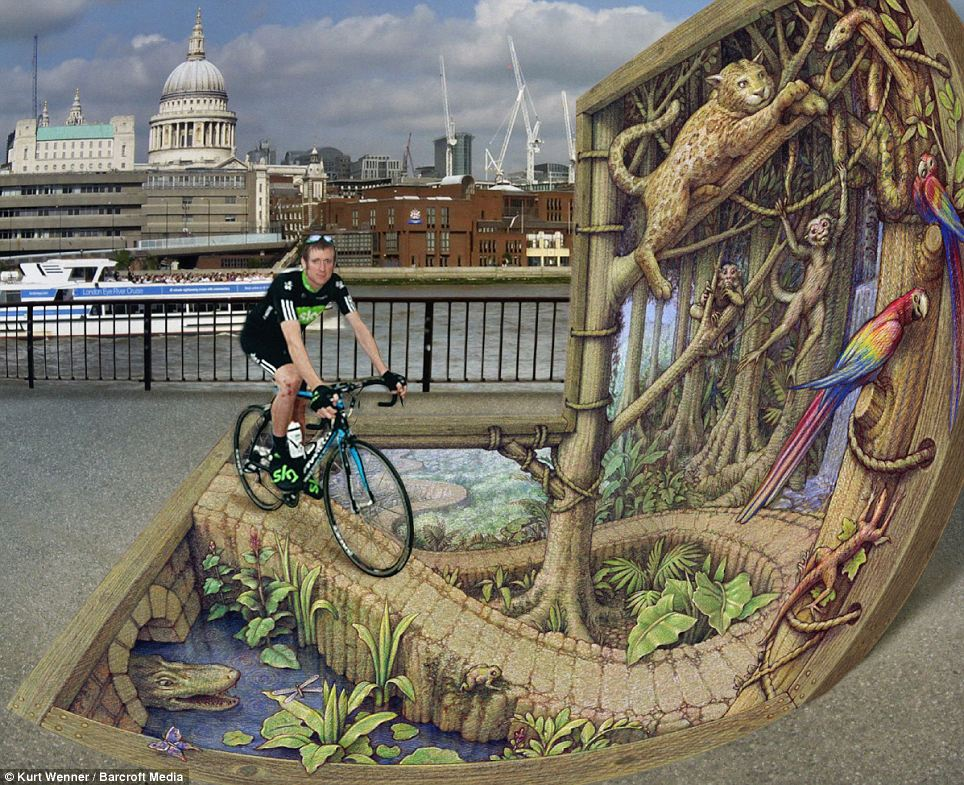 Stunning D Street Art On The Publics Imagination AMAZINGARTS - 17 amazing works of 3d street art