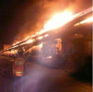 Kebakaran Pasar Induk Cikurubuk
