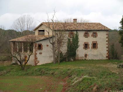 La masia El Prat del terme del Brull