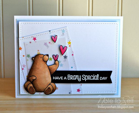 Beary Special Day Card by Lindsay Amrhein featuring the Birdie Brown Birthday Bears stamp set and Die-namics #mftstamps