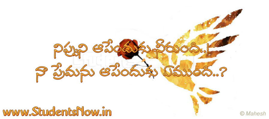 Telugu Love Quote   22   Beautiful Telugu Love Gallery