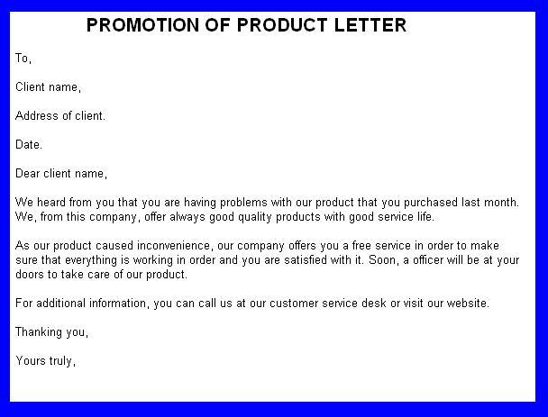 Cover Letter For Product Promotion How To Write A College