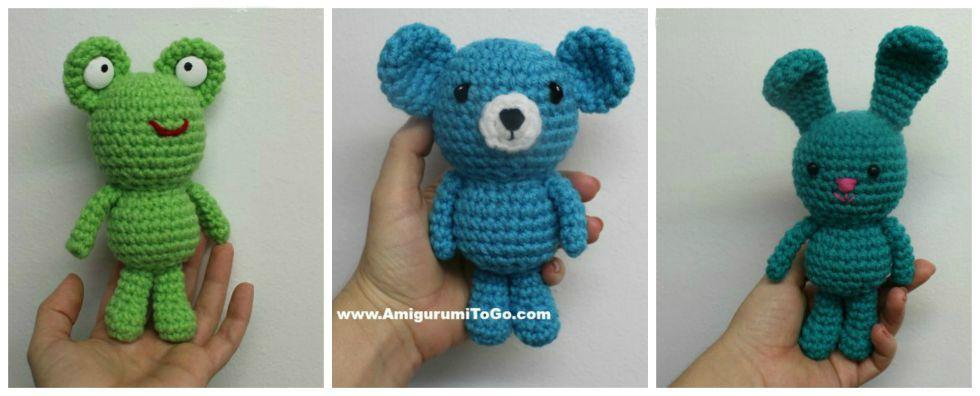 Bunny Amigurumi To Go : Wee Bear Frog and Bunny ~ Amigurumi To Go
