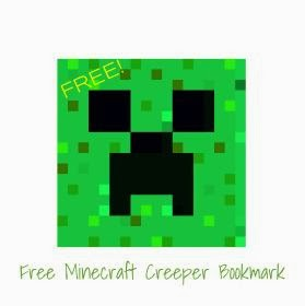 Free Minecraft Bookmark!