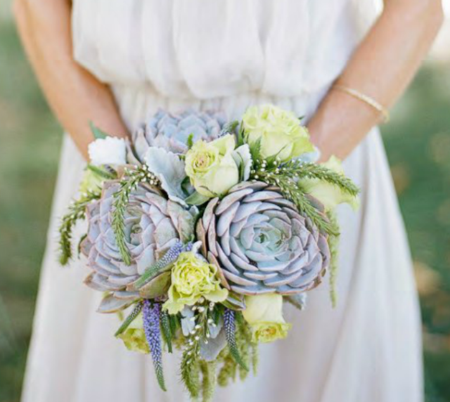 succelents bridal bouquet