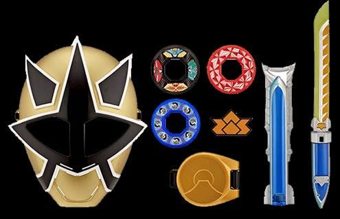 Henshin Grid: Toy Week: Training Sets Power Rangers Samurai Gold Ranger Barracuda Blade Toy