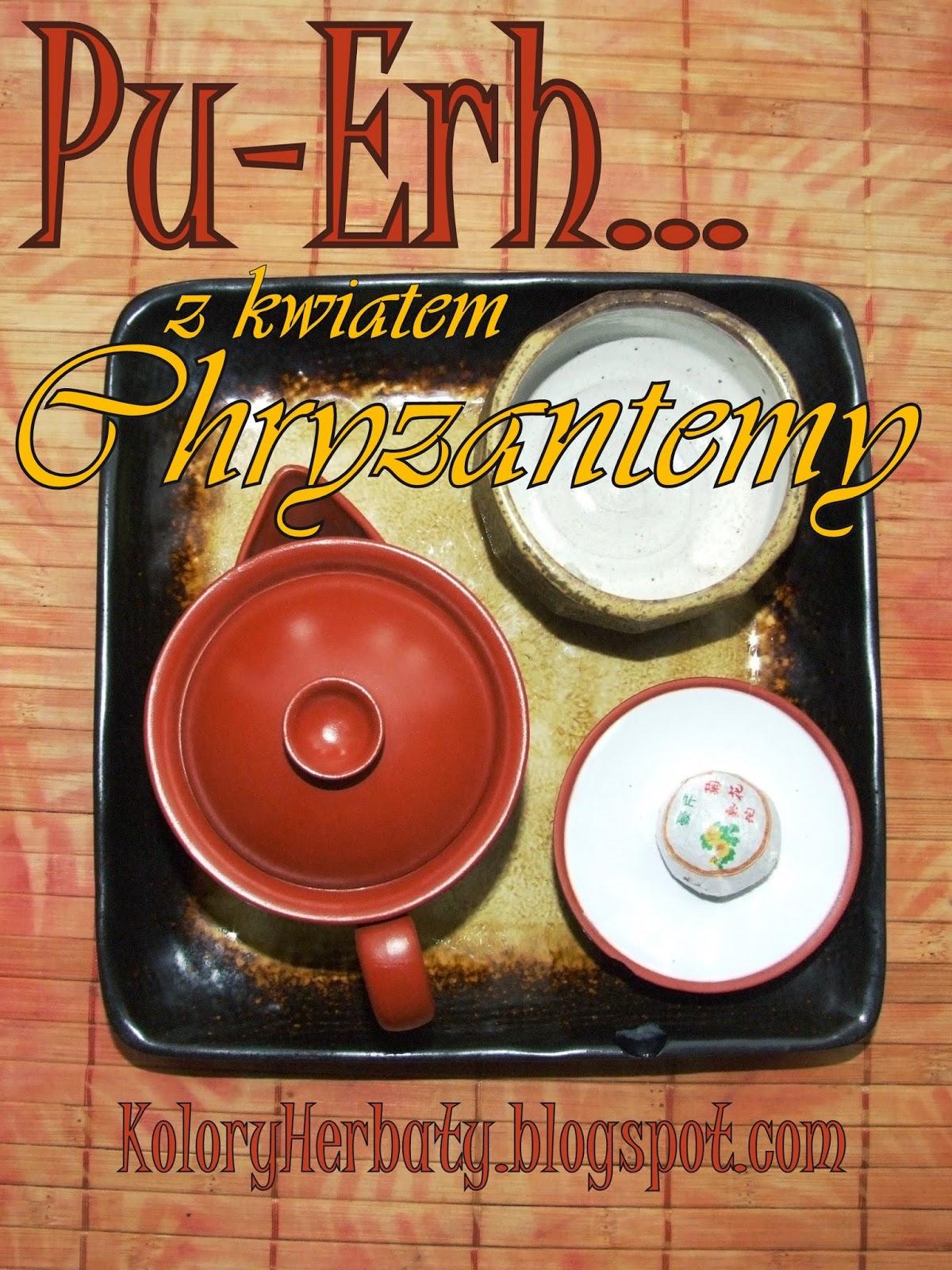 czerwona herbata pu-erh z chryzantemą