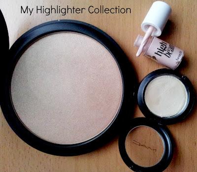 MAC cream colour base pearl benefit high beam gosh sun powder swatches