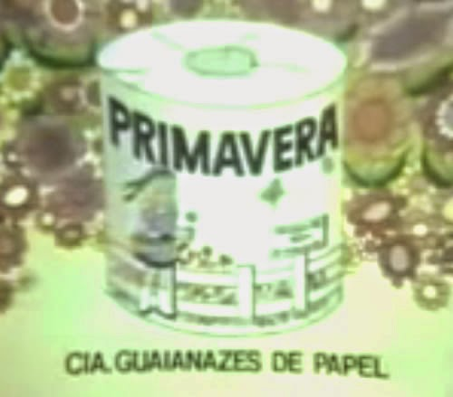 Propaganda com jingle do Papel Higiênico Primavera. Marcante campanha nos anos 70 e 80.