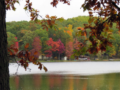 Pettibone Lake in autumn