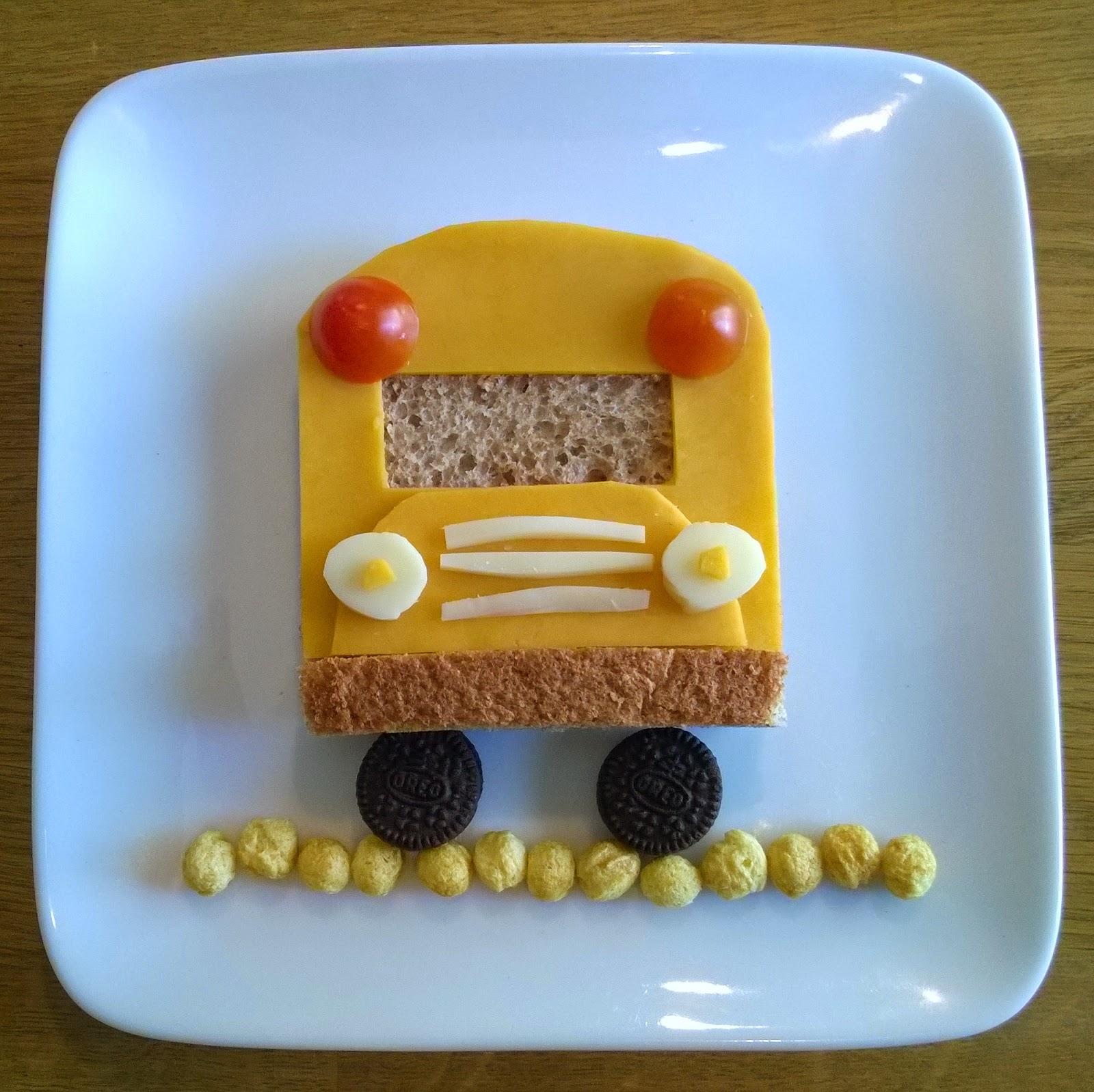 school bus edible art