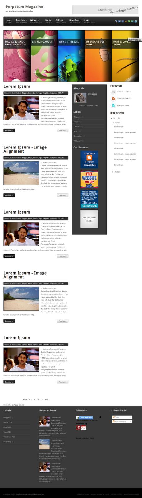 30 Plantillas Gratis Blogger, cambia el tamaño imágenes para caber ...