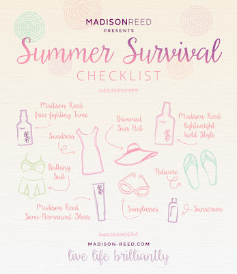 Madison Reed Summer Survival Checklist