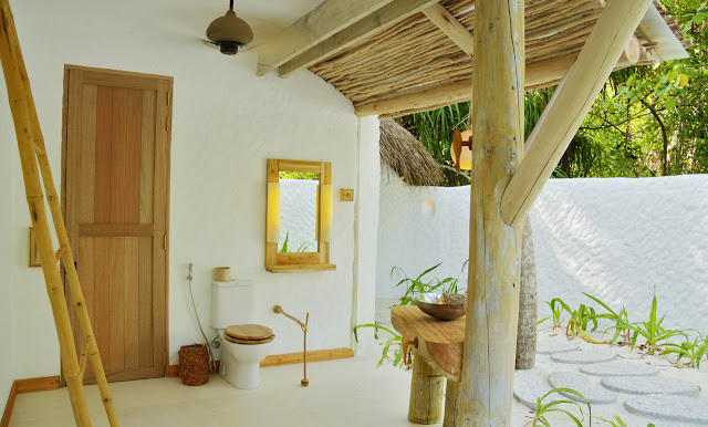 Photo of open bathroom in one of the resort residences