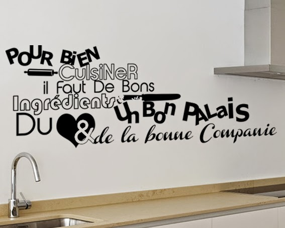 Stickers peintures murales and cuisine on pinterest for Stickers pour cuisine rouge