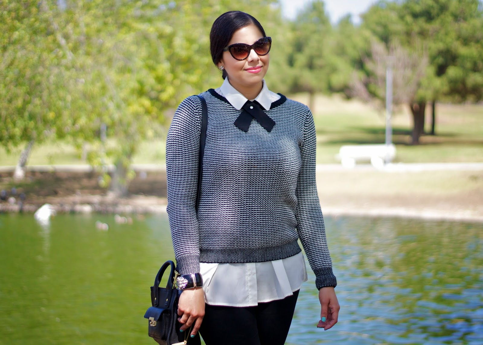 Black and White Sweater Outfit, Black and White Sweater Outfit by lilbitsofchic, Black and White Sweater Outfit San Diego