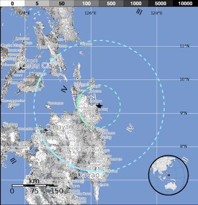 Terremoto de 6,4 grados de magnitud sacudió Mindanao, Filipinas, 02 de Noviembre 2012