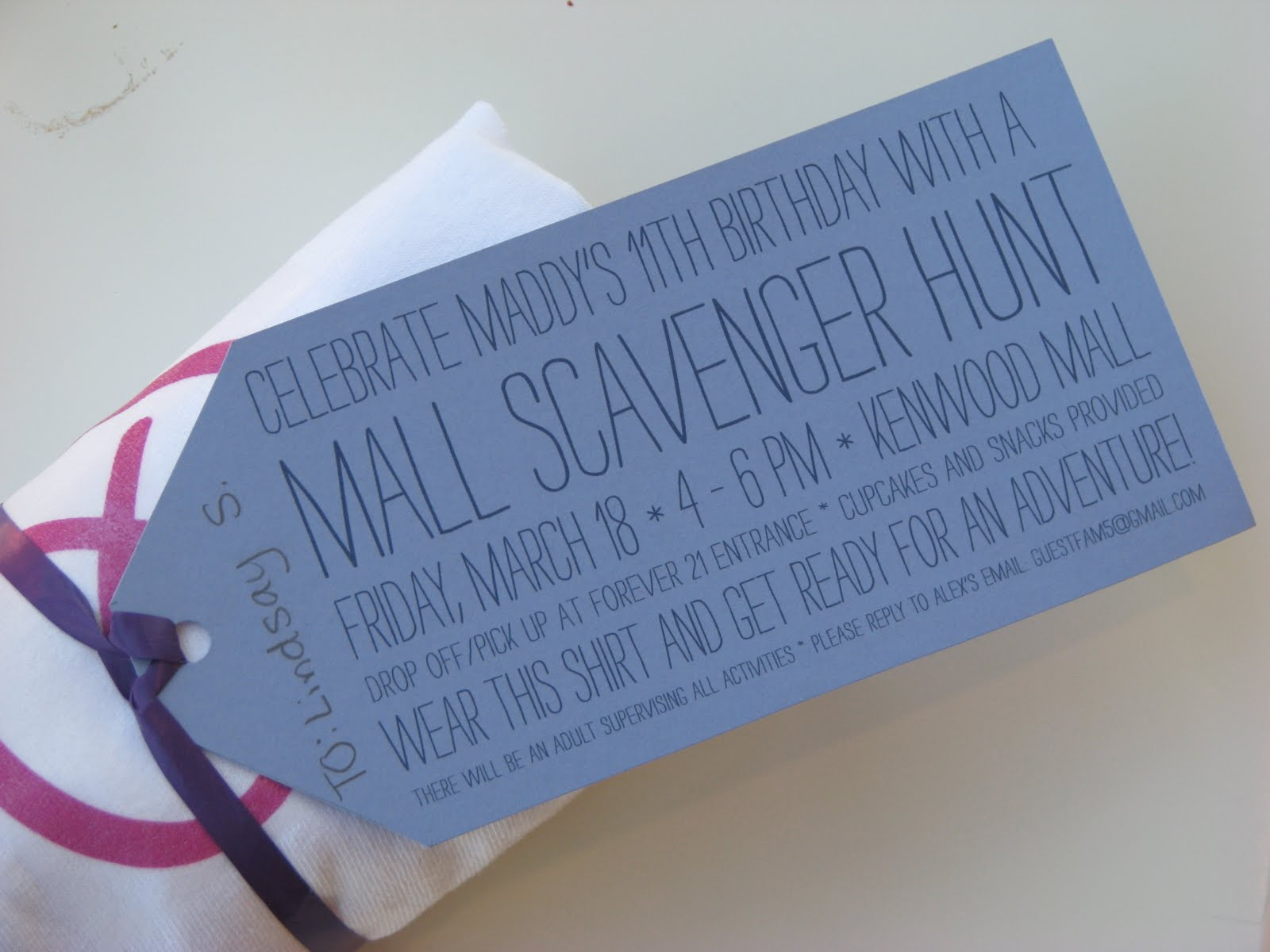 MargotMadison: Mall Scavenger Hunt Party for Tweens