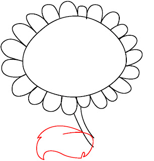 How To Draw Plants vs Zombies Sunflower Step 4