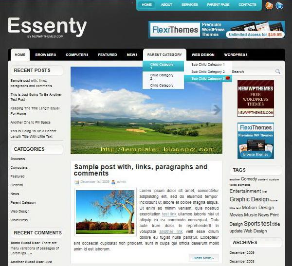 Essenty WordPress Theme