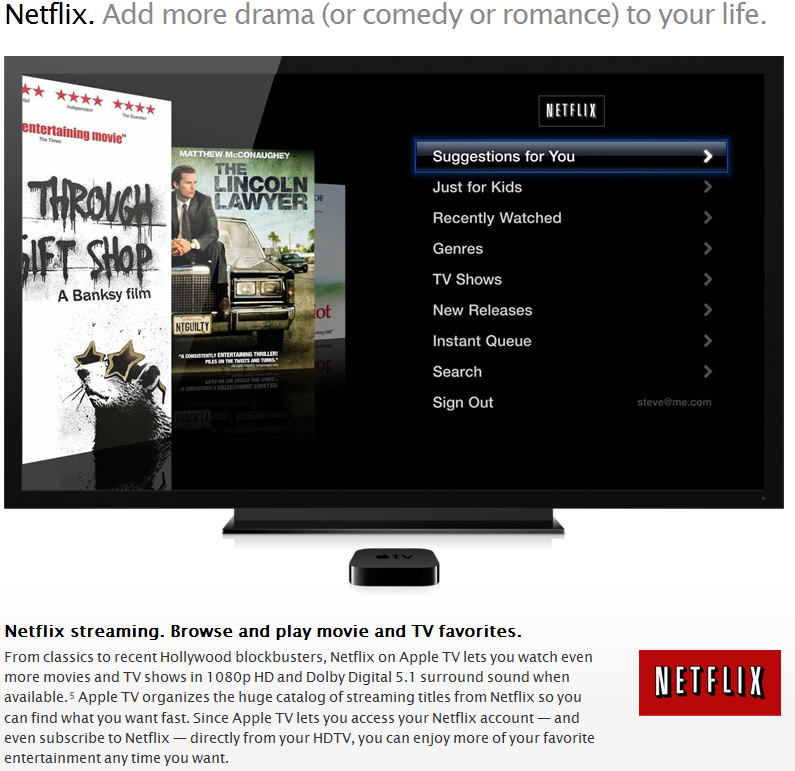 how to add netflix on apple tv