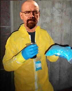 Disfraz de Walter con photoshop en la cara