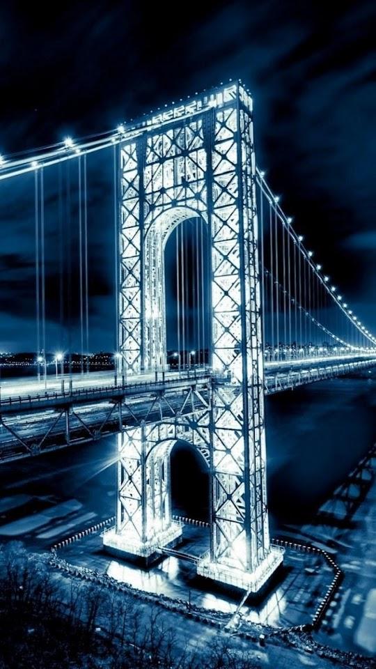 George Washington Bridge Night   Galaxy Note HD Wallpaper