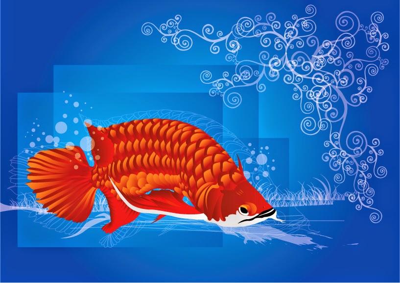 kartun ikan arwana