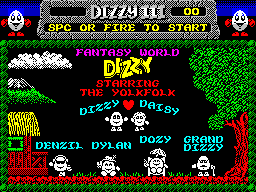 Fantasy World Dizzy starring the Yolkfolk title screen