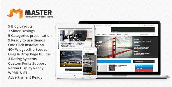 Master – Premium Blog & Magazine WordPress Theme Free Download ...