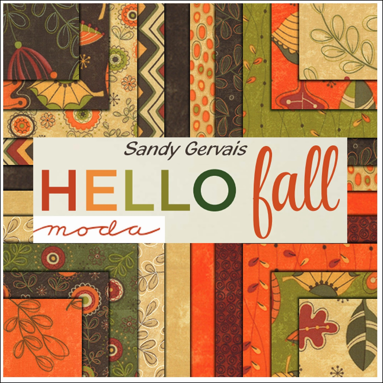 Moda HELLO FALL Quilt Fabric by Sandy Gervais for Moda Fabrics