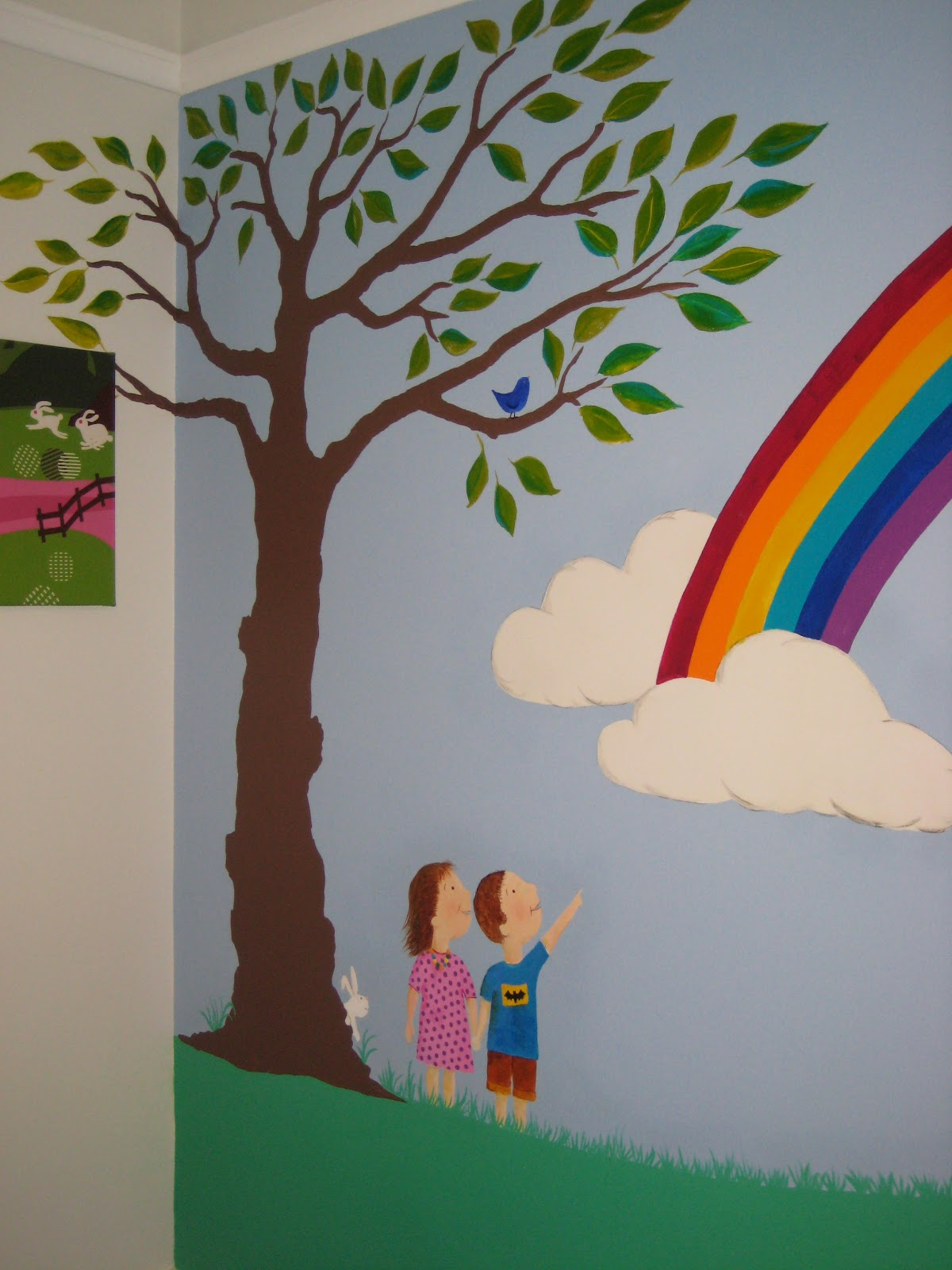 crafty little people our beautiful rainbow wall mural unicorn rainbow paint by number wall mural by elephants on