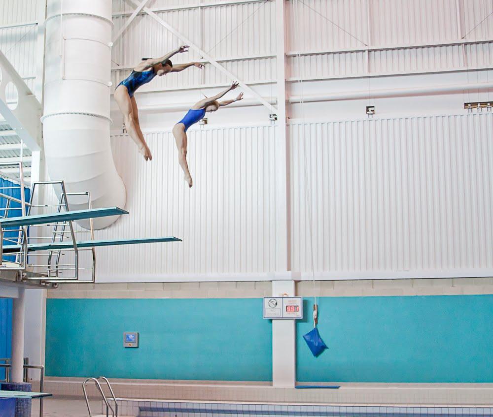 Russian Divers Make A Splash At Aquatics Centre In Leeds