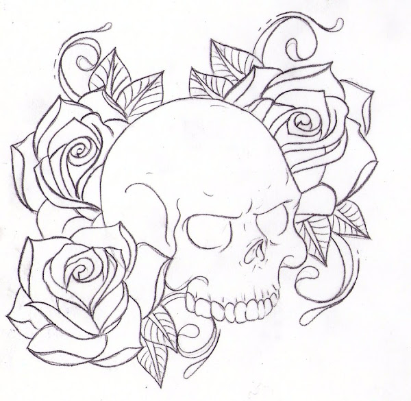 skull and roses coloring pages - Coloring Pages Roses Skulls