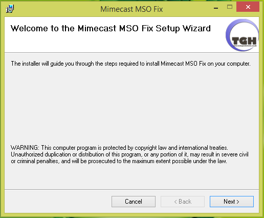 Click to view Mimecast MSO Fix screenshots