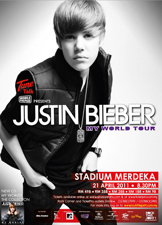 justin bieber in concert one less lonely girl. JUSTIN BIEBER, I?YOU