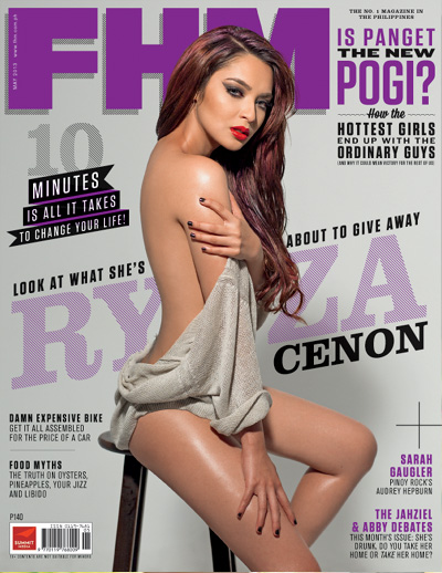 StarStruck Ultimate Avenger-Ryza Cenon is FHM's May 2013 Cover Babe!