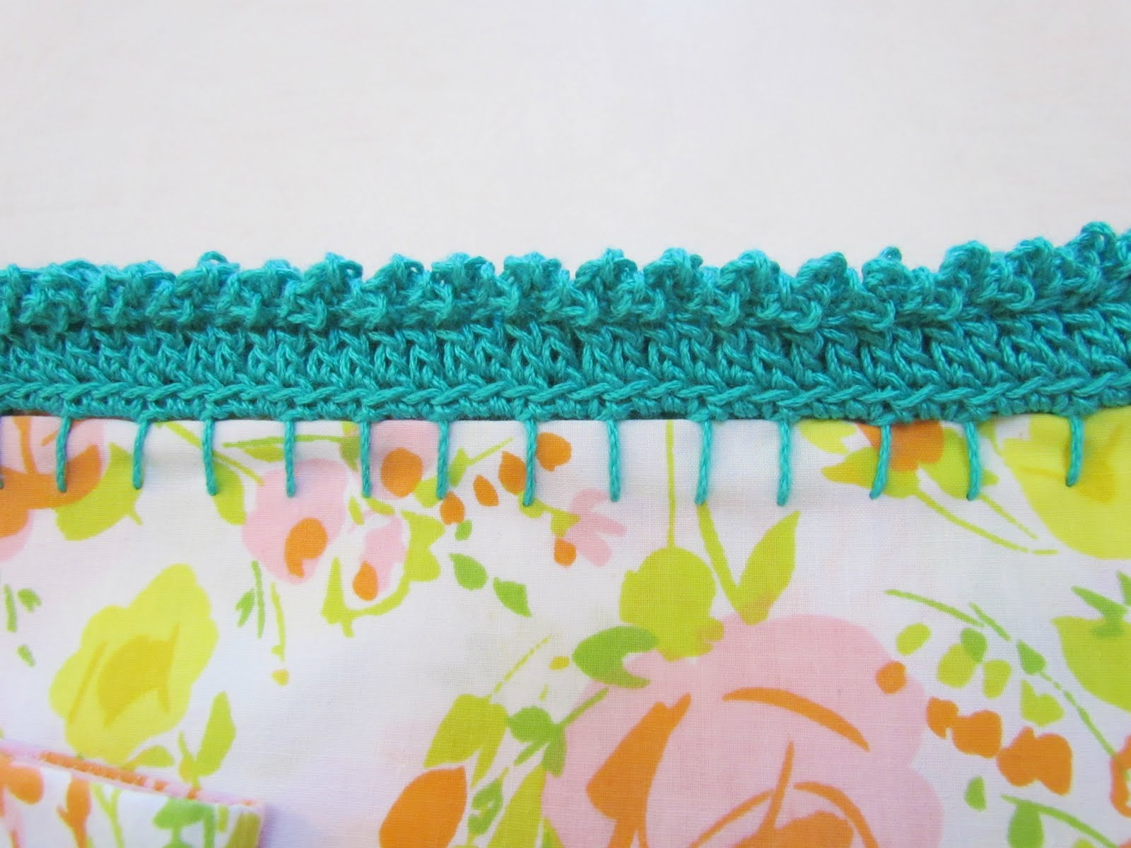 Crochet Stitches Picot Edging : 30 Days For 30 Dollars - Day 5 - Embellished Pillowcases Plus A Bonus ...
