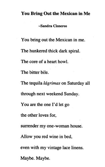 "my name by sandra cisneros essay Writing like sandra cisneros i have used ""my name"" to launch a personal essay assignment on names—how we got them, their significance."