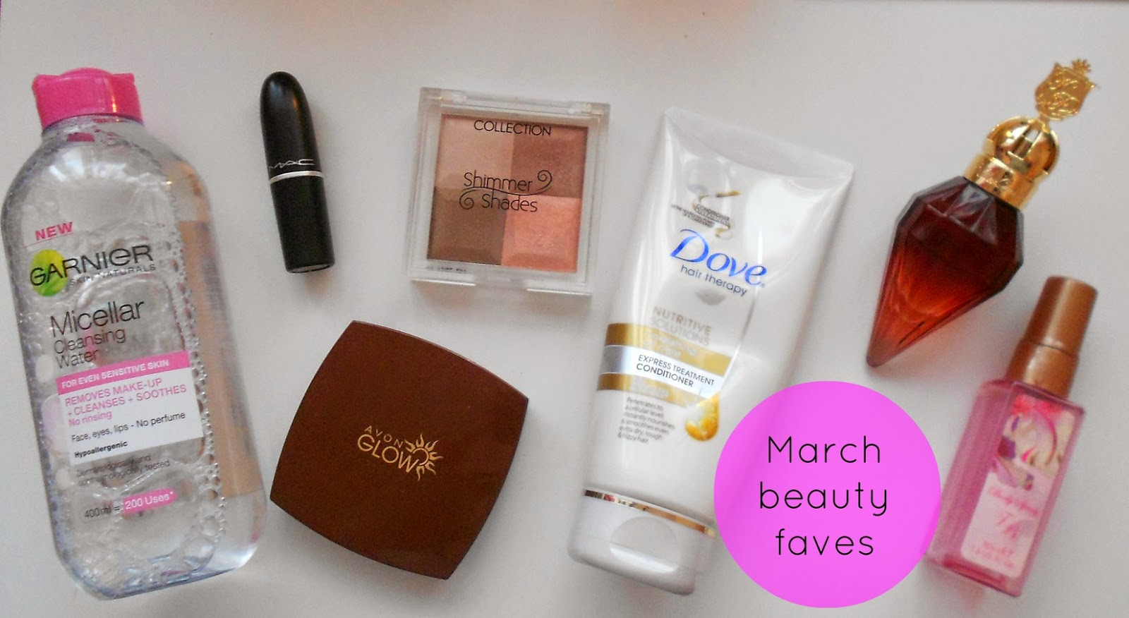 beauty favourites blog march bloggers mac avon hue matte bronzer ted baker bioderma katy perry
