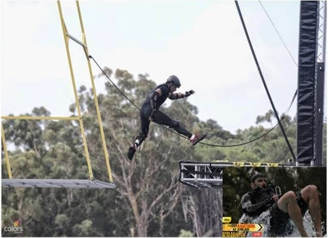 Swing stunt with jumps for Fear Factor Khatron Ke Khiladi contestants