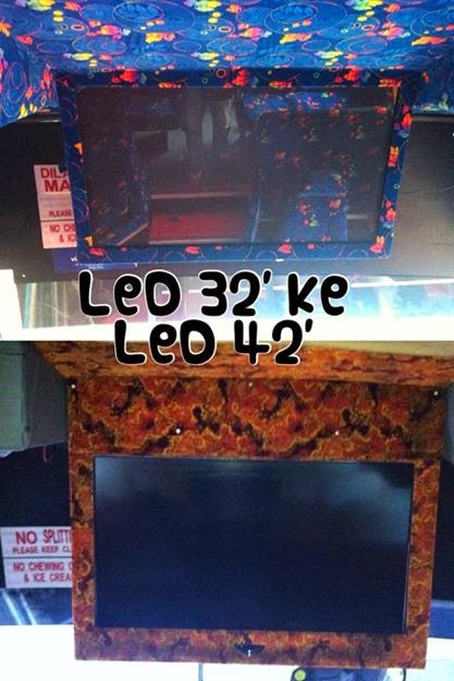 tv led 42' with hardics player sound sistem